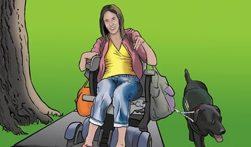 Emily Cerebral Palsy living independently