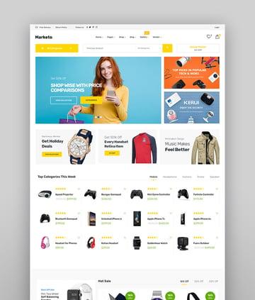 Marketo - Tema de WooCommerce para eCommerce y marketplace con WordPress
