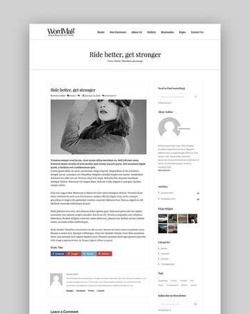 WordMag - Typography Focused WordPress Magzine Theme