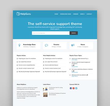 HelpGuru - Tema de WordPress para servicio de autoayuda
