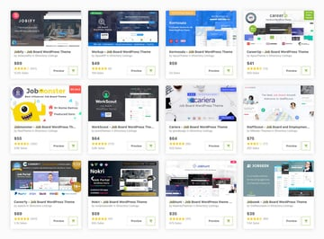 Best job board WordPress themes available for download on ThemeForest 2019