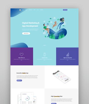 Milu - Tech and App Landing Page Theme