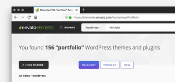 Envato Elements uses a combination of search terms and taxonomies