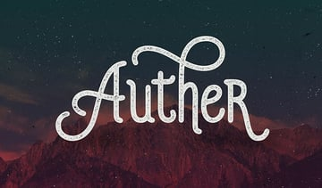 Thumbnail image taken from Auther web font by Seniors Studio