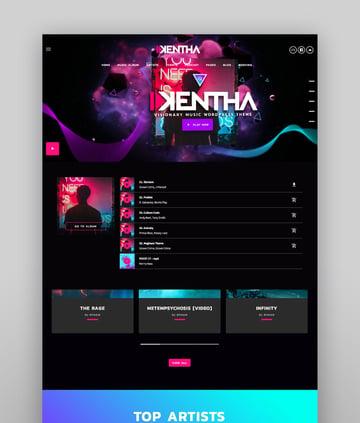Kentha  Visionary Music WordPress Theme