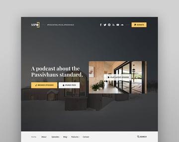 Vipo - Tema de WordPress para videopodcast, Vlog y audio