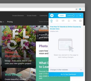 Visual Inspector Chrome extension
