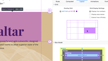 Firefox grid inspector