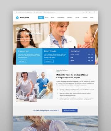 MediCenter - WordPress Theme für Gesundheitskliniken