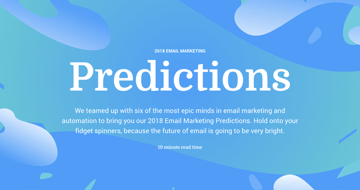 2018 email marketing predictions