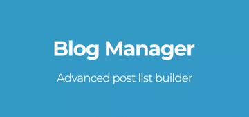 Blog Manager plugin for WordPress