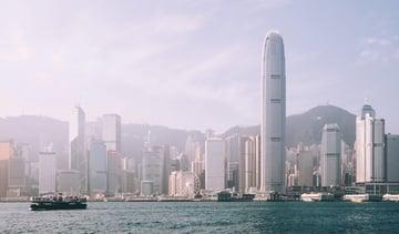 The iconic Hong Kong skyline