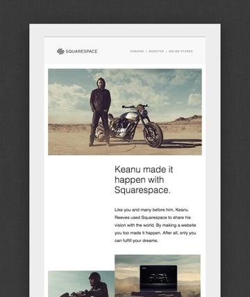 keanu squarespace email design