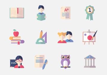 Education Icons Set 2 - Flat Series