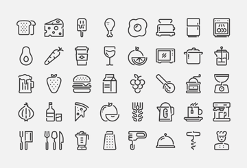40 Food and Kitchen icons