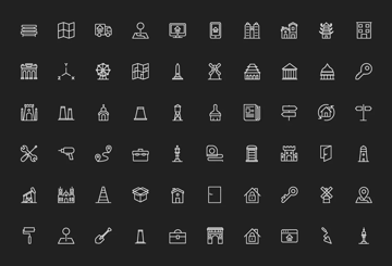 180 Real Estate Line Icons