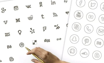Social Media Icons Large Set