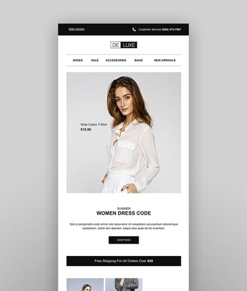 Deluxe - Fashion Store  Ecommerce Email Newsletter Template