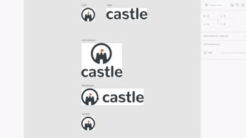 logo versions in Adobe XD