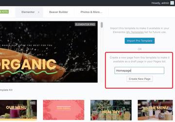 create a home page