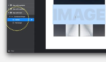 Both elements are readily available for editing in the layers panel under a new Combined shape