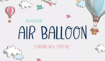 Air Balloon Font