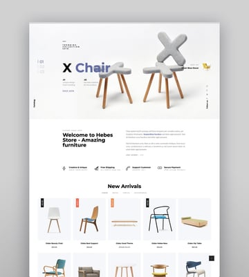 Hebes - Modern Furniture Shopify Theme