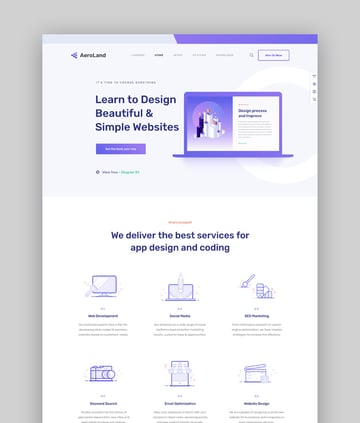 AeroLand - Responsive App Landing WordPress Theme