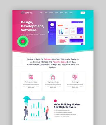 Softino - Software Landing Page