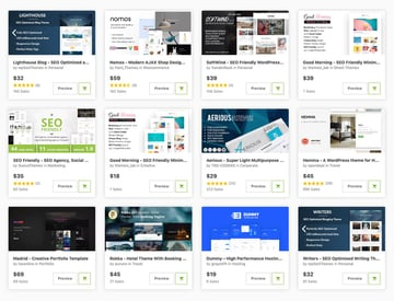 ThemeForest is home to loads of SEO-friendly themes