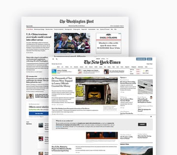 the washington post and the new york times