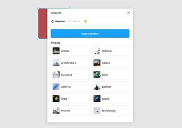 unsplash select