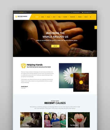 Helping Hands - Crowdfunding Charity Theme