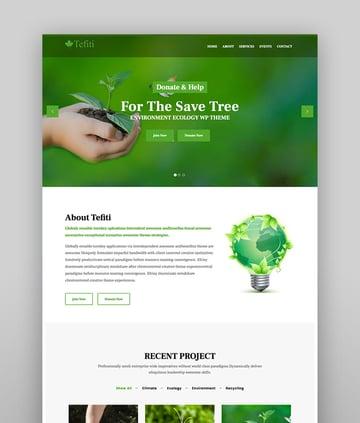 Tefiti - Environment Ecology WordPress Theme