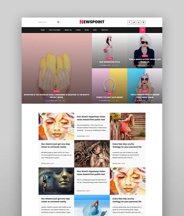 Newspoint - Creative Personal Blog WordPress Theme