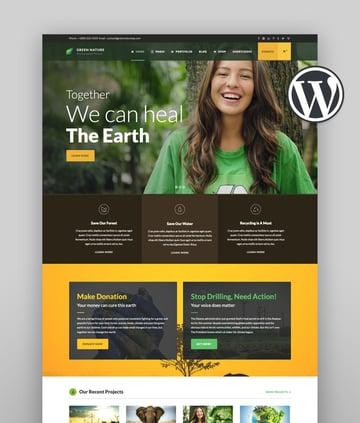Green Nature - Environmental  Nonprofit WordPress