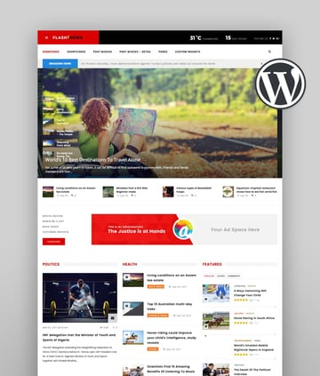 Flash - Newspaper Template WordPress