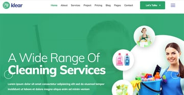 Klear - Cleaning Service Template