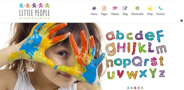 Little People  Kindergarten WordPress Theme for Preschool and Infants Nurseries and Play School