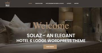 Solaz - An Elegant Hotel  Lodge WordPress Theme