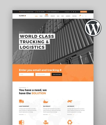 Globax - Logistics WordPress Theme WooCommerce