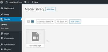 Begin by uploading your video to the Media Library