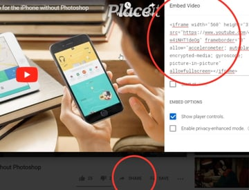 Begin by going to the Youtube video you want to embed