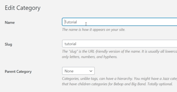 How to Edit a Category in WordPress