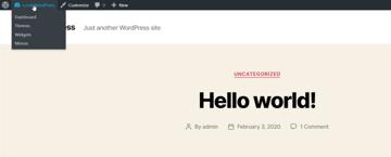 wordpress admin toolbar