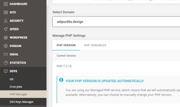 my PHP version is updated automatically by Siteground