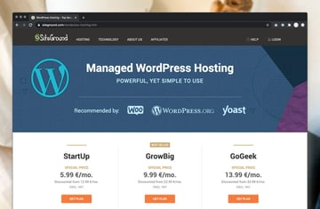 Managed WordPress Hosting on SiteGround