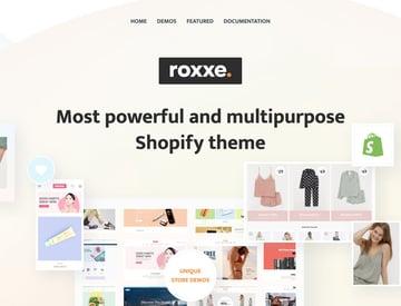 Roxxe Shopify theme available on Themeforest