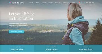 Born To Give – Charity Crowdfunding Responsive WordPress Theme