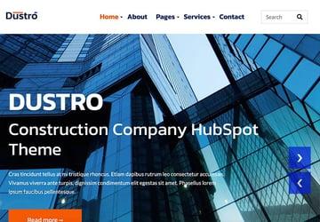 Dustro - Construction Company HubSpot Theme